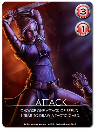Sample Battle Attack Card
